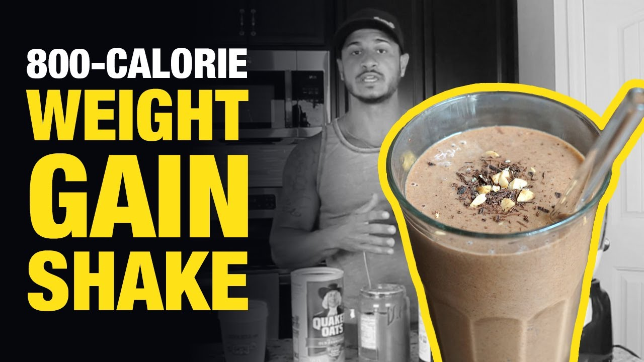 Homemade Weight Gain Shake For Skinny Guys: 800 Calories!
