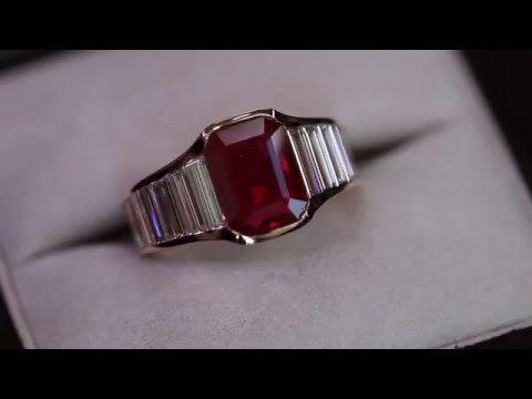 Passion Collection 18K RG E.C. Ruby & diamond ring