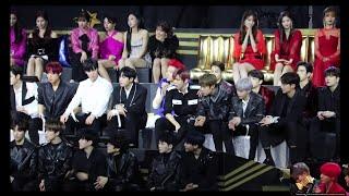 Gambar cover BTS Artist of the Year speech Reaction by Idols In MAMA 2018 HK (TWICE , SEVENTEEN , GOT7 etc)