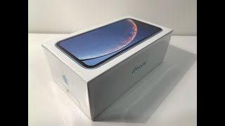 iPhone XR 64GB Blue (Dual sim/dual standby) unboxing and setup