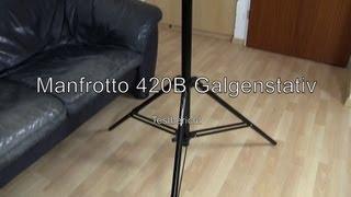 Testbericht: Manfrotto 420B Galgenstativ