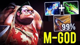 Pudge M-God is Real! Max Successful Hook 99% Build Kaya and Ethereal Blade Dota 2