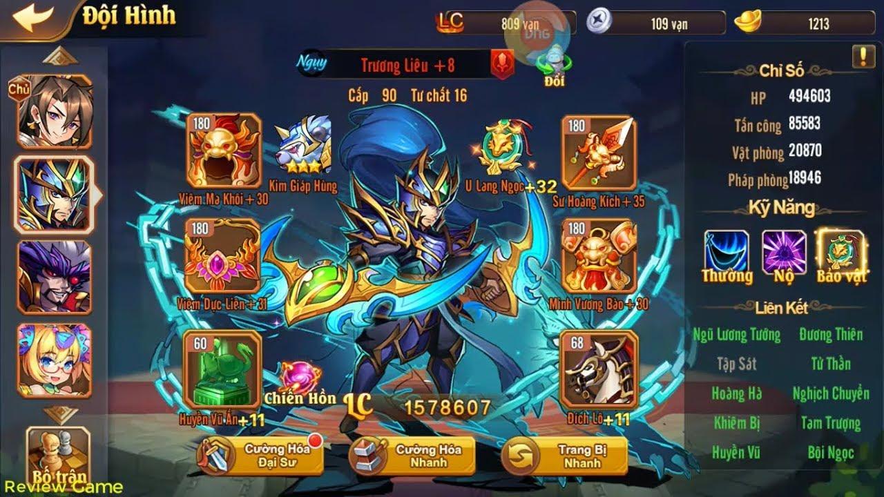 OMG 3Q - Build Team Ngụy Khi Có Tướng Đỏ TRƯƠNG LIÊU, Team Build 3 Ngụy Cực  Ngon || Minh Thành