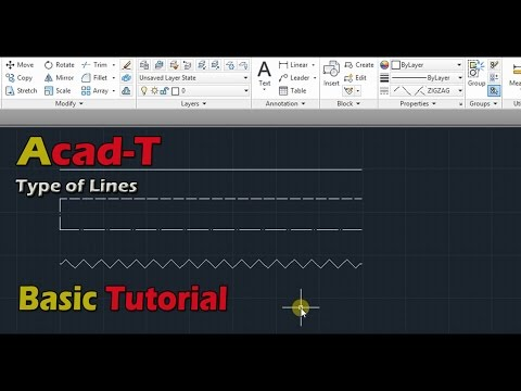 How To Make A Custom LineType - Types Of Line - AutoCAD Tutorials