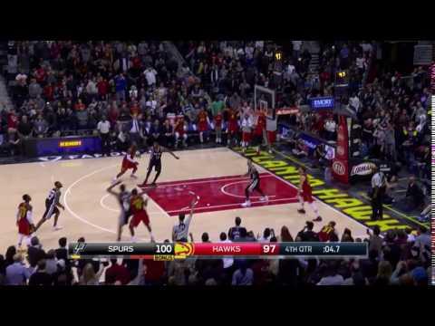 Tim Hardaway Jr Game Tying 3!   Spurs vs Hawks   January 1, 2017 NBA regular season