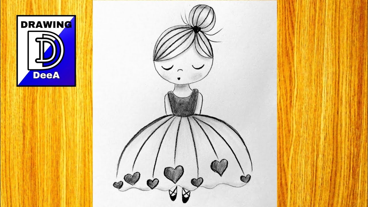 How To Draw Ballerina Very Easy Pencil Drawing Tutorial Step By Step Youtube