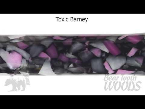 Toxic Barney Acrylic Pen Blank - YouTube