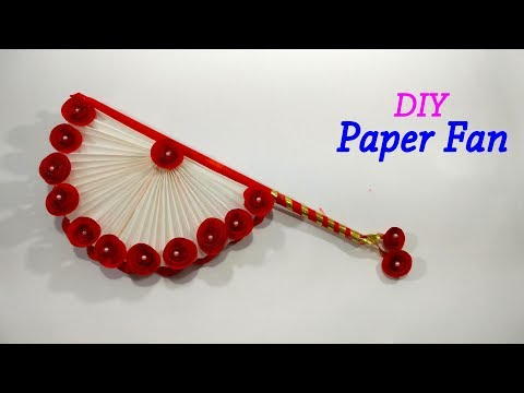 DIY Hand Fan - Traditional Paper Folding Fan - Easy Paper Hand Fan Making Tutorial