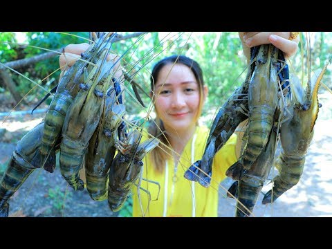 Yummy River Prawn Cooking Fresh Milk - River Prawn Stir Fry Reicpe - Cooking With Sros