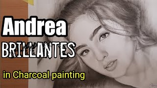 Andrea Brillantes in Charcoal painting