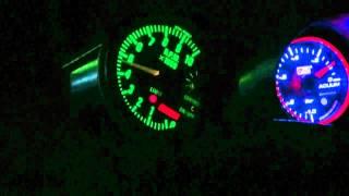 20年以上前の3気筒キャブレター車の軽トラに社外の大森タコメーター80パ...