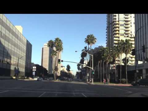 Drive Through Downtown Long Beach California