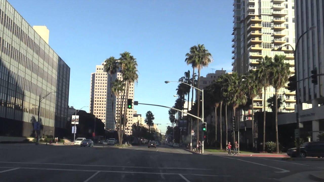 Drive Through Downtown Long Beach