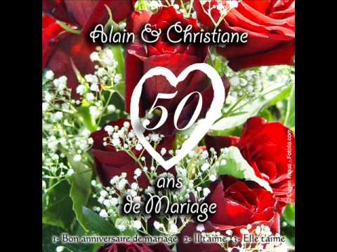 chanson anniversaire de mariage youtube. Black Bedroom Furniture Sets. Home Design Ideas