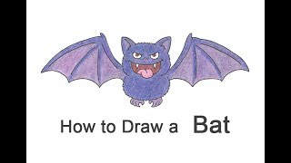 How to Draw a Cartoon Bat for Halloween!