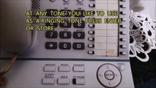 IP-PBX KX-NS500 نغمات متغيرة الأجراس