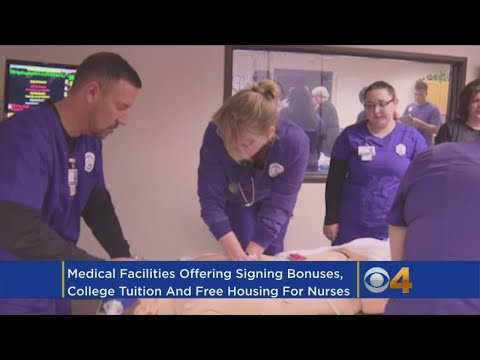 Hospitals Offer Big Bonuses, Free Housing And Tuition To Recruit Nurses