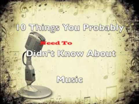 10 Musical Facts You Probably Didnt Know