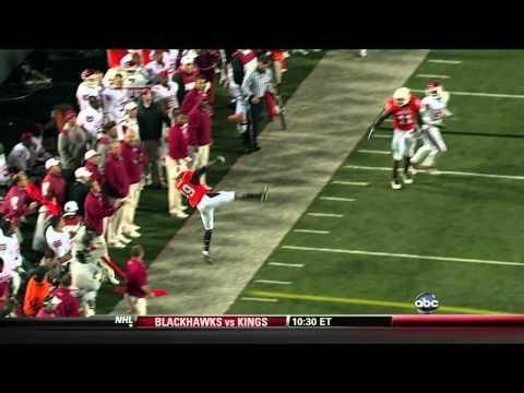 Crazy Oklahoma State Interception vs. Oklahoma - November 27, 2010