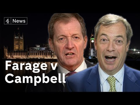 Nigel Farage vs Alastair Campbell on Brexit