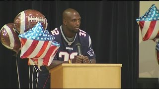 Patriots safety Devin McCourty visited students in Monson