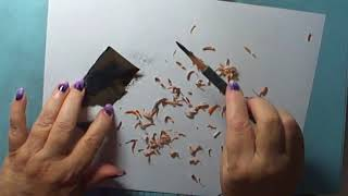 Sharpening My Charcoal Pencils
