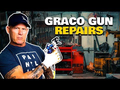 Cleaning A Graco Contractor II Gun.  Repair an Airless Spray Gun.