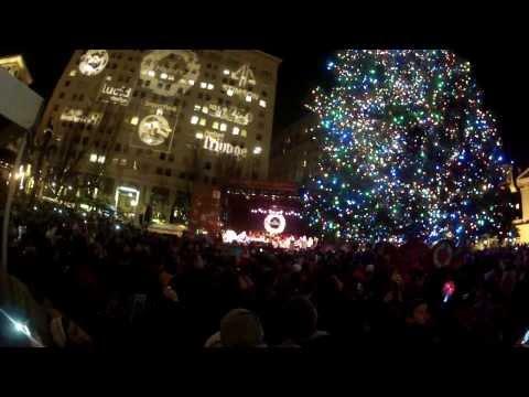 720p, Lighting the Tree. Pioneer Square, Portland, Oregon. GOPR3155.
