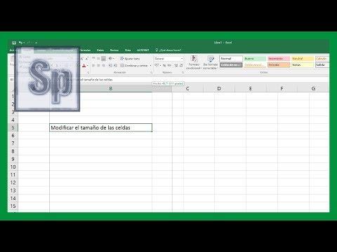 Excel - Modificar tamaño de celdas. Ajustar la celda a la longitud del texto. Tutorial en español HD