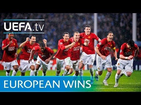 Manchester United's European glory - watch goals