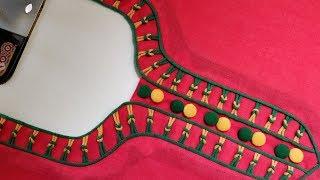 Stylish neck design making for kurti
