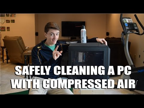 How to Safely Clean A PC Computer with Compressed Air Duster! (Best Method and Tips)