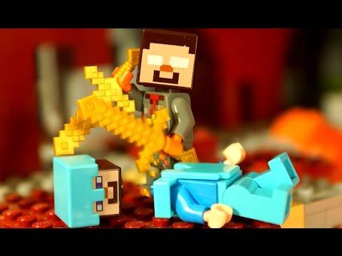 НУБ против ПРО в Майнкрафт Мультфильм Лего Лаки Блоки Троллинг Мультики Lego Minecraft Animation