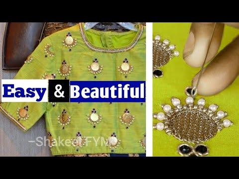 #EasyAndBeautiful #Beautiful Easy And Beautiful Design Of Blouse Tutorial Aari Work | Blouse Designs