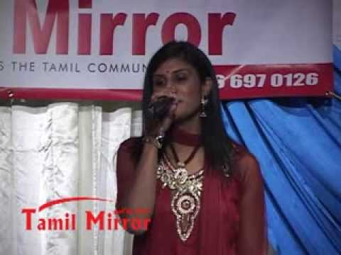 Elizabeth Malini singing at Tamil Mirror Gala Night 2012