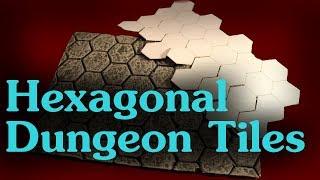 DIY Hexagonal Dungeon TiĮes for D&D / Wargaming