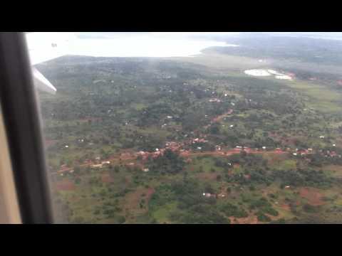 Ethiopian Airways 24/06/2012 Soft easy Landing in Entebbe Uganda.  (See part 2 in KGL)