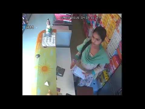 Girl || Thefting || Money  caught  on CCTV camera