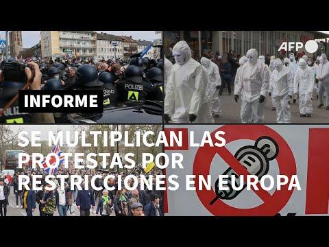 Múltiples protestas en Europa contra restricciones por pandemia | AFP