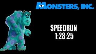 Monsters, Inc. Scream Team 100% Speedrun en 1:28:25 - SerSanju