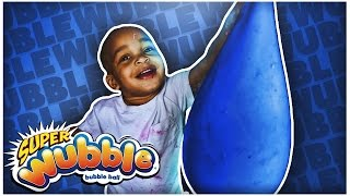Download GIANT WUBBLE BUBBLE | DIY FLUFFY SLIME STRESS BALL | SUPER SQUISHY & SOFT!!! Mp3 and Videos