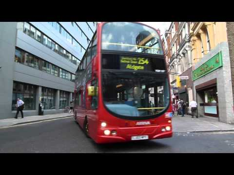 Arriva VLW 157 enters Aldgate Bus Station on Route 254