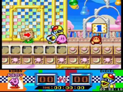 Kirby Superstar - Gourmet Race Gameplay