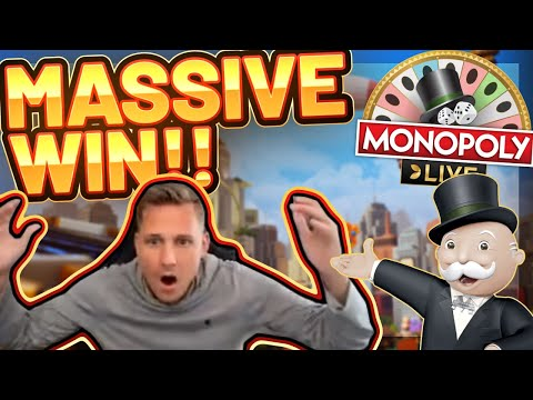 MASSIVE WIN!!! Monopoly LIVE BIG WIN - CasinoDaddy HUGE WIN On Casino Game