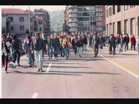 italian ultras in the streets - cortei ultras italiani