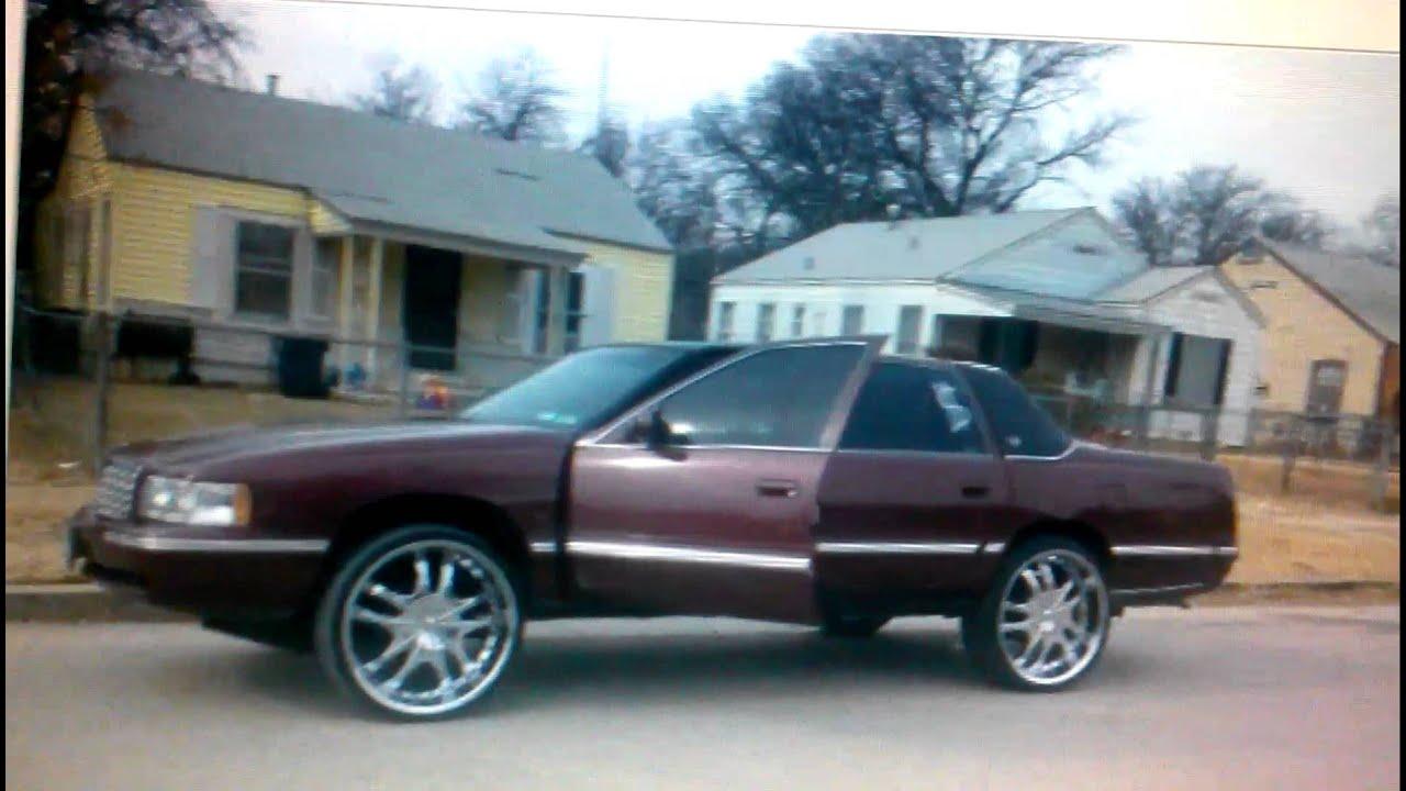 "1995 Cadillac Fleetwood >> 98"" Cadillac fleetwood on lifted on 24s - $3200 (Fort Worth ) - YouTube"