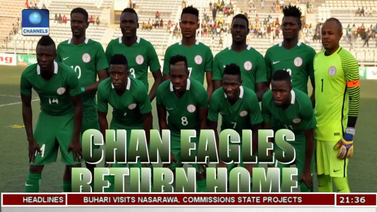 CHAN Eagles Arrive In Nigeria Pt.2  Sports Tonight 
