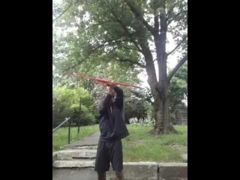 Me practicing my combat defense