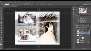 Верстка разворота фотокниги(Решил записать видео, как быстро и без особых усилий создать разворот фотокниги в программе фотошоп., 2014-07-22T11:07:28.000Z)