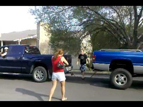 Ford Towing A Dodge >> Toyota Tundra vs Dodge Ram - who has the stronger truck! - YouTube